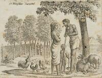 """CHODOWIECKI (1726-1801). Die Malayische """"Menschen-Varietät""""; Druckgraphik"""