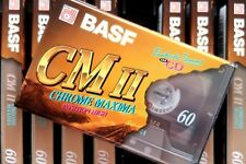 BASF CHROME MAXIMA II 60 HIGH BIAS IECII/TYPE II BLANK AUDIO CASSETTE TAPE 1995