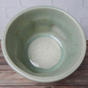 "Vintage Round Manley Pottery Planter Light Green 7.25"""