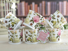 Set 6 ROYAL MUSK Fine Bone China FOOTED Palace MUGS With Gold Rim CREATIVE TOPS