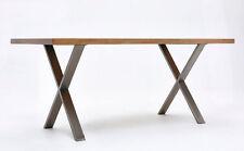2x Gambe in ferro per tavoli finitura ferro industriale  X legs