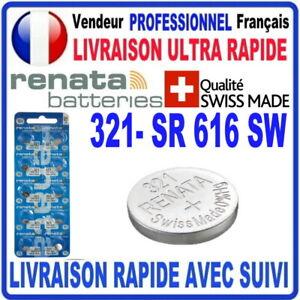 Pile 321 SR616SW 1.55V RENATA Pile bouton QUALITÉ PREMIUM MADE IN SWISS