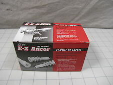 100pk ITW E-Z Ancor Twist-N-Lock Self Drilling Dry Wall Anchors 5061902 NEW