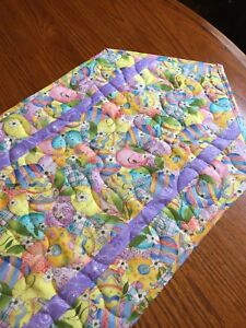 Handcrafted-Quilted Table Runner - Easter Egg Extravaganza - Multicolored - NEW