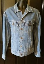 Vintage Lee Riders Denim Jean Jacket Trucker Chore Barn Coat Mens Sz Large
