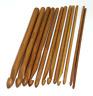 "Knit Weave Yarn Craft Knitting Needles Set 12 Size 6"" Bamboo Handle Crochet Hook"
