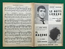 (R39) Spartito musicale 1963 CELENTANO - LE NOTTI LUNGHE MIMI' BERTE - IL MAGONE
