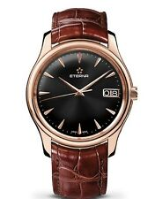 NEW $22980.00 18 k Rose Gold ETERNA watch Vaughan Big Date 42 mm 7630.69.10.1185