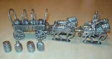 Wagon Train-Lead Toy-4 Horses, 2 Riders & Supplies-27 Piece-From Vintage Mold