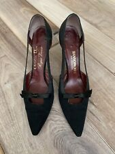 Museum Rare Vintage 1960s Christian Dior Roger Vivier Black Heels Shoes