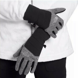 The North Face Women's Indi 3.0 Etip Gloves~Medium In Black/Gray~New With Tags!