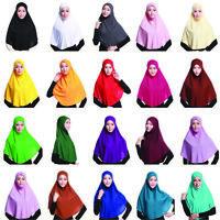 Muslim Women Prayer Hijab Long Scarf Jilbab Islamic Large Overhead Caps NeckHead