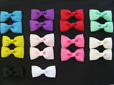 girl hair accessories multi colour bow clips large bulk