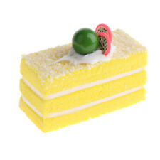 Realistic Artificial Fake Cake Cupcake Model Display Photo Prop Decor Yellow