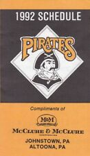1992 PITTSBURGH PIRATES POCKET SCHEDULE