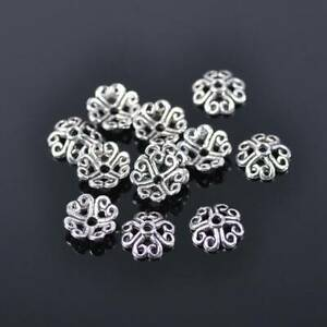 200pcs 8.5mm Tibetan Silver Metal Loose Spacer Beads Caps lot for Jewelry Making