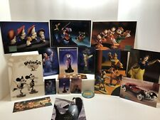 Disney Collector Classic Membership Pins Post Cards Hook Fantasia Snow White Lot