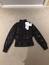 Brand New Belstaff Women's Goose Down Jacket In Dark Brown/Black