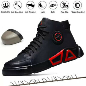 Mens Safety Shoes Breathable Sports Trainers Womens Work Steel Toe Ankle Boots