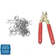 New Interior Hog Ring Plyers & Clip Kit - Approximately 100 Clips- Kit