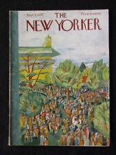 Vintage New Yorker Magazine September 8 1934  Ilonka Karasz cover art