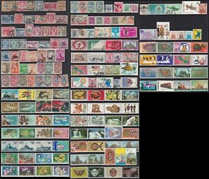 Thailand stamp 1909-1970s 5 pages of mint & used stamps and sets, MNH, MH, used