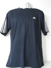 Adidas Active360 Navy/White 3-Striped Crewneck Fitted Athletic Shirt Mens size L