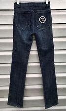 CHANEL Denim Embellished Pearl Beaded Logo Pocket Jeans RARE!!