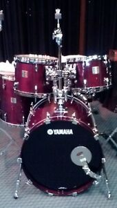 YAMAHA CUSTOM MADE BIRCH CHERRY WOOD ABSOLUTE, FACTORY SPECIAL ORDER SIZES DRUMS