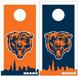 Chicago Bears Cornhole Board Wraps Decals Skins Vinyl HIGH QUALITY! NFL