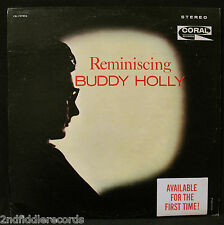 BUDDY HOLLY-REMINISCING-With Hype Sticker-CORAL #CRL 757426-Maroon Label-Stereo