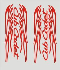 """PAIR OF CUB CADET FLAMING  DECALS  RED 1L & 1R  3 3/4 X"""" 9"""" EACH"""