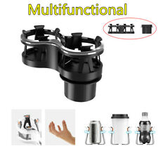 Adjustable Car SUV Dual Cup Holder Glass Ash Tray Rack Drink Holder Organizer