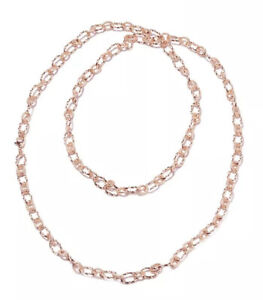 """Link Chain Necklace 36"""" In ION Plated Stainless Steel"""