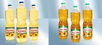 """Raffiniertes/Unraffiniertes Sonnenblumenöl """"Rossianka"""" 1L kostenloser Versand"""