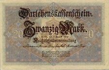 Germany / Deutschland P-48 / Ro.49 20 mark Darlehenskassenschein 1914