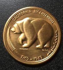 Bronze California Bicentennial Coin 1769 -1969