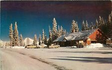 c1950 Postcard, Winter at Summit, Monarch Pass CO, US Hwy 50, Continental Divide