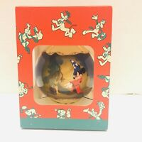 Vtg 1995 Disney Store Fantasia Christmas Glass Ornament Ball in Original Box USA