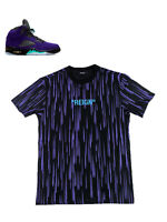 "Tee to Match Air Jordan 5 Retro Alternate Grape Sneakers, Black, ""PURPLE REIGN"""