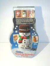 Wilton Stand Up Snowman Christmas Cake Mold Pan Kit NOS 1984