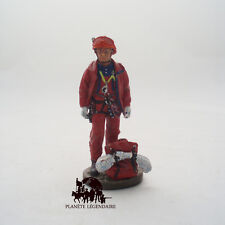 Figurine Del Prado plomb soldat Pompier Tenue de Feu Equipier GRIMP France 2002