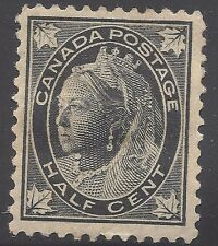 Canada 1/2 cent stamp #66 mint OG HR VF (Lot Canada 2)