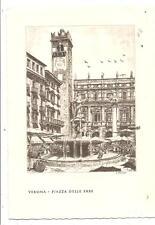 VERONA  -  PIAZZA DELLE ERBE - dis. E. FAGIUOLI 1959.......Cartolerie ONESTIGHEL