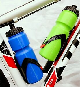 Carbon effect bottle cage holder with drink bottle Road Race Mountain Gravel