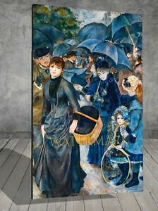 Auguste Renoir The Umbrellas FRAMED CANVAS PAINTING ART PRINT 174
