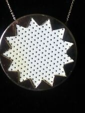 HOUSE OF HARLOW LEATHER STARBURST GOLD NECKLACE~28 IN.