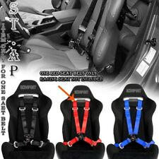 """Fit Us-Car 4 Point Racing Safety Harness Camlock 2 """" Inch Strap Seat Belt Red"""