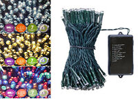 100 LED Battery Powered Multi Action Christmas Lights With Timer Indoor/Outdoor