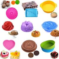 Large Silicone Cake Mold Pan Muffin Chocolate Pizza Pastry Baking Tray Mould HOT